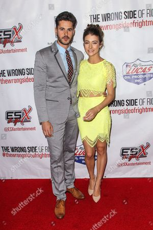 """Jayson Blair and Allison Paige attend the premiere of """"The Wrong Side of Right"""" at the TCL Chinese Theater, in Los Angeles"""