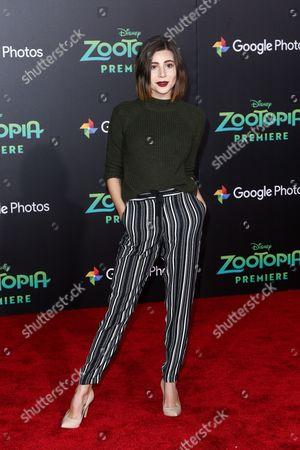 "Olivia Stuck attends the LA Premiere of ""Zootopia"" held at El Capitan Theatre, in Los Angeles"