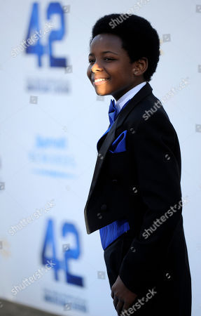 Editorial image of LA Premiere of 42 Arrivals, Los Angeles, USA - 9 Apr 2013
