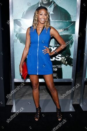 "Professional Volleyball player Kim Glass attends the LA premiere of ""Alex Cross"" at the ArcLight Cinerama dome on in Los Angeles"