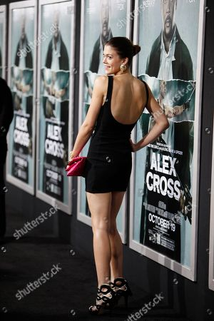 "Actress Lindsey Shaw attends the LA premiere of ""Alex Cross"" at the ArcLight Cinerama dome on in Los Angeles"