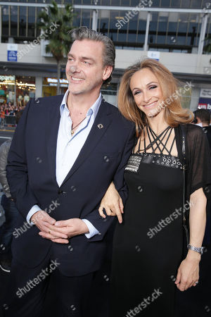 """Ray Stevenson and Elisabetta Caraccia at the LA Premiere of """"G.I. Joe: Retaliation"""" held at the TCL Chinese Theatre on in Los Angeles"""
