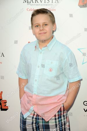 """Stock Photo of Jackson Brundage arrives at the LA premiere of """"Nicky Deuce"""" at the ArcLight Hollywood on in Los Angeles"""