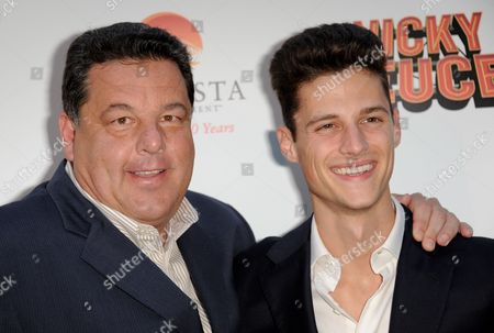 """Steve Schirripa, left, and Ken Baumann arrive at the LA premiere of """"Nicky Deuce"""" at the ArcLight Hollywood on in Los Angeles"""