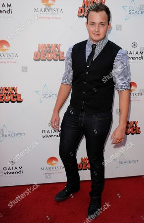 """Noah Munck arrives at the LA premiere of """"Nicky Deuce"""" at the ArcLight Hollywood on in Los Angeles"""