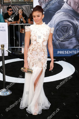 """Agnes Monica arrives at the LA premiere of """"Oblivion"""" at the TCL Chinese Theater on in Los Angeles"""