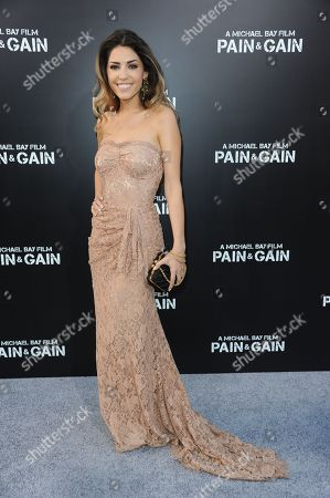 """Yolanthe Cabau arrives at the LA Premiere of """"Pain and Gain"""" at the TCL Theatre on in Hollywood, Calif"""