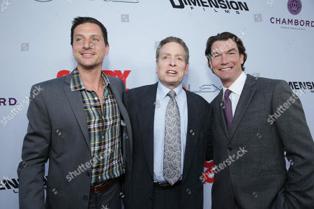 Simon Rex, Producer David Zucker and Jerry O'Connell at the LA Premiere of Scary Movie V at the Cinerama Dome on in Los Angeles