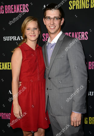 """Heather Morris, left, and Taylor Hubbell arrive at the LA premiere of """"Spring Breakers"""" at the ArcLight Hollywood on in Los Angeles"""