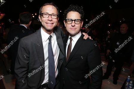 """CAA's Partner Richard Lovett and Director/Writer J.J Abrams arrive at the LA premiere of """"Star Trek Into Darkness"""" at The Dolby Theater on in Los Angeles"""