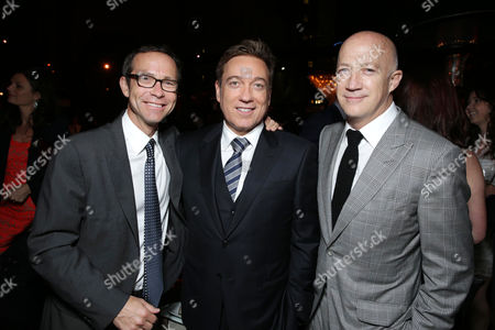 """CAA Partners Richard Lovett, Kevin Huvane and Bryan Lourd arrive at the LA premiere of """"Star Trek Into Darkness"""" at The Dolby Theater on in Los Angeles"""