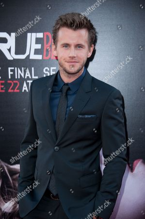 "Stock Picture of Brett Lorenzini arrives at the Los Angeles premiere of the 7th and final season of ""True Blood"" at the TCL Chinese Theatre on"