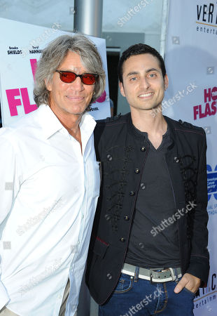 """Eric Roberts, at left, and his son, Keaton Simons arrives at the LA premiere of """"The Hot Flashes"""" at the ArcLight Hollywood on in Los Angeles"""