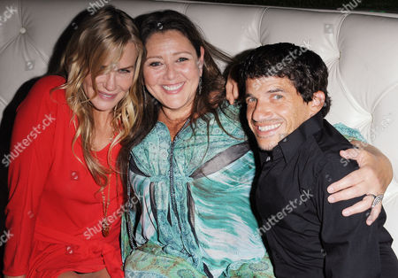 """Daryl Hannah, from left, Camryn Manheim, and Mark Povinelli, attends """"The Hot Flashes"""" premiere afterparty at Lure on in Los Angeles. The Hot Flashes premiere will also serve as a benefit for its official charity partner, the American Cancer Society"""