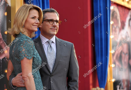 """Stock Photo of Actors Nancy Walls, left, and Steve Carell arrive at the LA premiere of """"The Incredible Burt Wonderstone"""" at the TCL Chinese Theatre, in Los Angeles"""