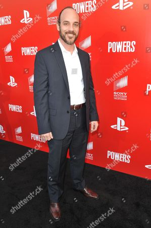 """Phillip DeVona arrives at the LA Series Premiere Of """"Powers"""" held at Sony Picture Studios, in Culver City, Calif"""