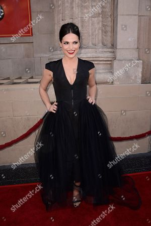 """Stock Image of Actress Lanna Parrilla attends a special screening of the season four premiere of the ABC television series """"Once Upon a Time"""" at the El Capitan Theatre on in Los Angeles"""