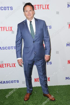 """Stock Photo of Michael Hitchcock attends a special screening of """"Mascots"""" held at the Linwood Dunn Theater, in Los Angeles"""
