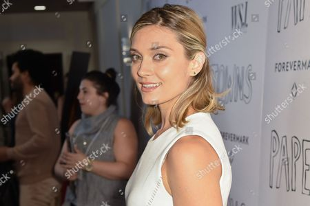"""Spencer Grammer arrives at the special screening of """"Paper Towns"""" help at The London Hotel, in West Hollywood, Calif"""