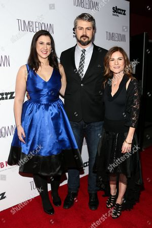 "Margot Hand, from left, Sean Mewshaw and Kristin Hahn attend the LA Special Screening of ""Tumbledown"" held at Aero Theater, in Santa Monica, Calif"