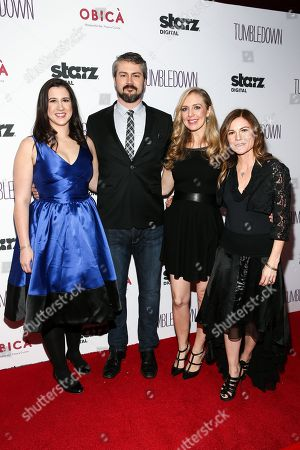 "Margot Hand, from left, Sean Mewshaw, Desi Van Til and Kristin Hahn attend the LA Special Screening of ""Tumbledown"" held at Aero Theater, in Santa Monica, Calif"