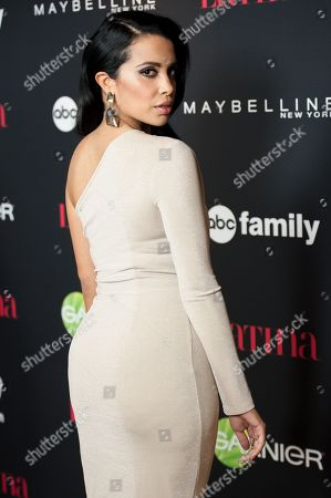 """Stock Picture of Mirtha Michelle arrives at LATINA Magazine's """"30 Under 30"""" Party, in West Hollywood, Calif"""