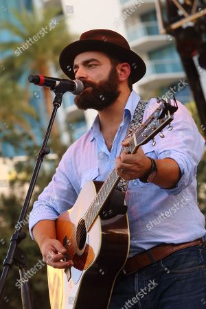 Stock Image of Drew Holcomb and the Neighbors performs on day 2 of Lauderdale Live at Huizenga Plaza on in Fort Lauderdale Florida