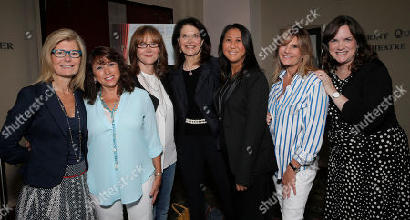 Stock Image of Pamela Williams, Sue Schwartz, Rusty Robertson, Sherry Lansing, Sung Poblete, Lisa Paulsen and Kathleen Lobb attend a Stand Up To Cancer hosted screening of Lee Daniels' The Butler to benefit the Laura Ziskin Prize, on in Los Angeles
