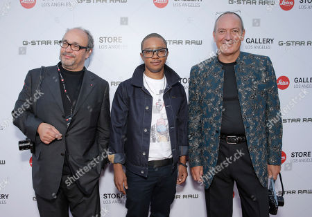 Leica Deputy Chairmain of the Supervisory Board Dr. Andreas Kaufmann, Benjamin Charles Watson and Leica Chief Executive Officer Alfred Schopf attend the Leica Los Angeles Grand Opening, on Thursday, June, 20, 2013 in West Hollywood, California