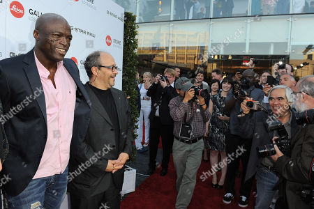 Seal, left, and Dr. Andreas Kaufmann arrive at the Leica Store Los Angeles Grand Opening on in Los Angeles