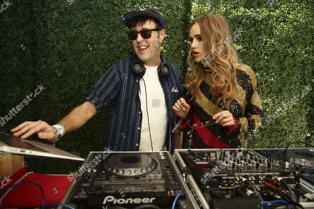 Stock Picture of Exclusive - Andrew Bevan and Suki Waterhouse seen at Levi's at Coachella, in Indio