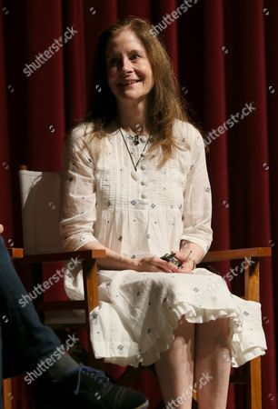 "Stock Photo of Hallie Foote participates in a panel at the Lifetime screening of ""The Trip to Bountiful"" at the Leonard H. Goldenson Theatre, in the NoHo Arts District of Los Angeles"