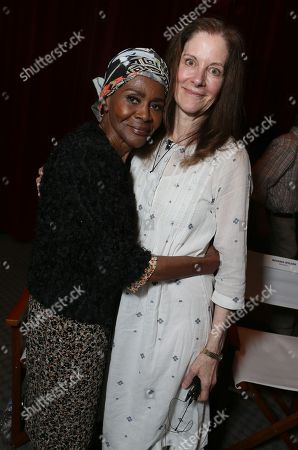 "Cicely Tyson, left, and Hallie Foote attend the Lifetime screening of ""The Trip to Bountiful"" at the Leonard H. Goldenson Theatre, in the NoHo Arts District of Los Angeles"