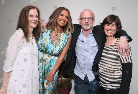 """Hallie Foote and from left, Vanessa Williams, Michael Wilson, and Tanya Lopez, SVP of Original Movies, Lifetime, attend the Lifetime screening of """"The Trip to Bountiful"""" at the Leonard H. Goldenson Theatre, in the NoHo Arts District of Los Angeles"""