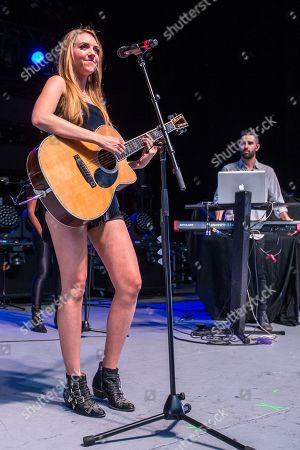 Olivia Somerlyn opens up for Lindsey Stirling at the Greek Theatre on in Los Angeles