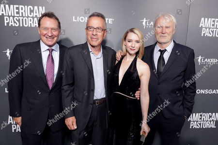 "Stock Image of Producer Gary Lucchesi, Producer Tom Rosenberg, Valorie Curry and Producer Andre Lamal seen at Lionsgate Los Angeles Special Screening of ""American Pastoral"" at Samuel Goldwyn Theater, in Beverly Hills, CA"