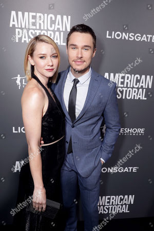 """Valorie Curry and Sam Underwood seen at Lionsgate Los Angeles Special Screening of """"American Pastoral"""" at Samuel Goldwyn Theater, in Beverly Hills, CA"""