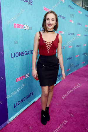"Alexis G. Zall seen at Lionsgate Premiere of ""Dirty 30"" at ArcLight Cinemas, in Los Angeles"