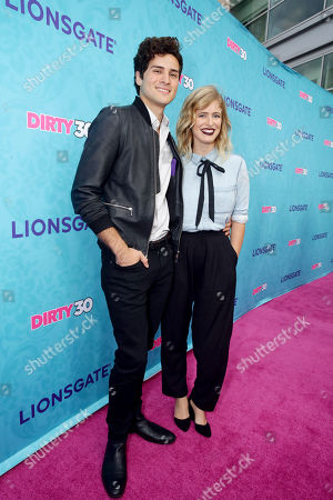 "Anthony Padilla and Miel seen at Lionsgate Premiere of ""Dirty 30"" at ArcLight Cinemas, in Los Angeles"