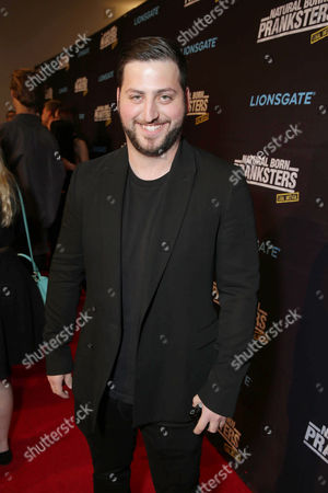 "Alex Mandel seen at Lionsgate Los Angeles Premiere of ""Natural Born Pranksters"" at Regal L.A. LIVE, in Los Angeles"