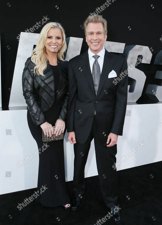 "Screenwriters Katrin Benedikt and Creighton Rothenberger arrive at the Lionsgate Los Angeles premiere of ""The Expendables 3"" at TCL Chinese Theatre, in Hollywood, Calif"