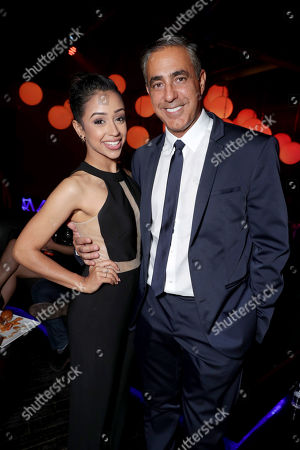 "Liza Koshy and Producer Ozzie Areu seen at Lionsgate Presents the World Premiere of Tyler Perry's ""Boo! A Madea Halloween"" after party at Lure Nightclub, in Los Angeles"