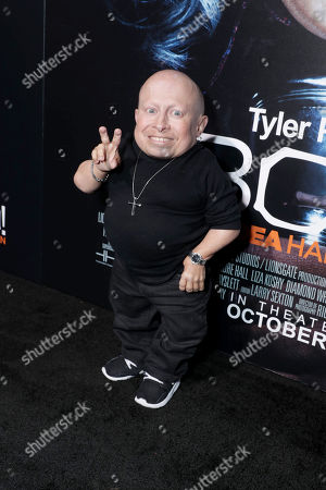"Verne Troyer seen at Lionsgate Presents the World Premiere of Tyler Perry's ""Boo! A Madea Halloween"" at ArcLight Cinerama Dome, in Los Angeles"