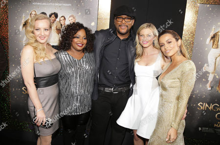 Wendi McLendon-Covey, Cocoa Brown, Director/Writer Tyler Perry, Amy Smart and Zulay Henao seen at The World Premiere of TYLER PERRY'S 'The Single Moms Club' presented by Lionsgate on in Los Angeles