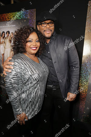 Cocoa Brown and Director/Writer Tyler Perry seen at The World Premiere of TYLER PERRY'S 'The Single Moms Club' presented by Lionsgate on in Los Angeles