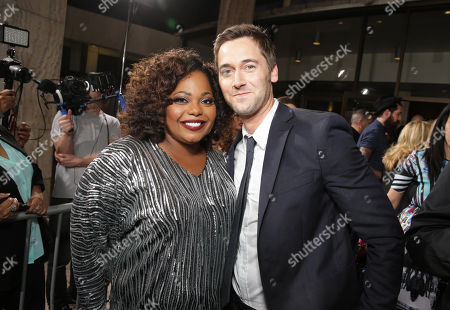 Cocoa Brown and Ryan Eggold seen at The World Premiere of TYLER PERRY'S 'The Single Moms Club' presented by Lionsgate on in Los Angeles