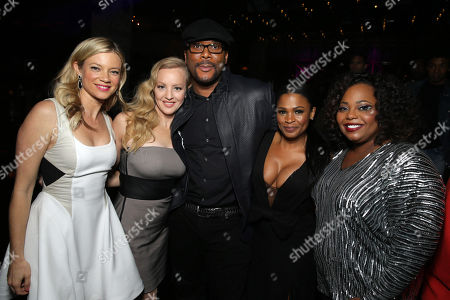 Amy Smart, Wendi McLendon-Covey, Director/Writer Tyler Perry, Nia Long and Cocoa Brown seen at The World Premiere of TYLER PERRY'S 'The Single Moms Club' presented by Lionsgate on in Los Angeles