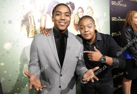 The caption needs to read Christopher Massey and Kyle Massey seen at The World Premiere of TYLER PERRY'S 'The Single Moms Club' presented by Lionsgate on in Los Angeles