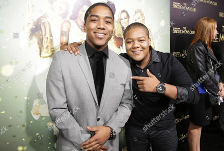 Stock Image of The caption needs to read Christopher Massey and Kyle Massey seen at The World Premiere of TYLER PERRY'S 'The Single Moms Club' presented by Lionsgate on in Los Angeles