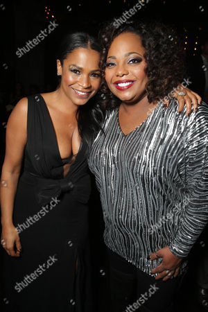 Nia Long and Cocoa Brown seen at The World Premiere of TYLER PERRY'S 'The Single Moms Club' presented by Lionsgate on in Los Angeles